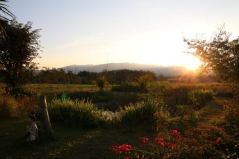 Sonnenuntergang in Chiang Dao