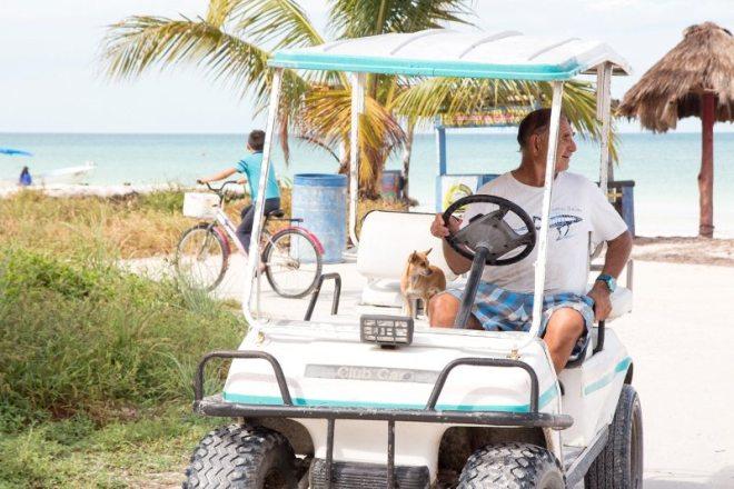 Golfcards auf der Isla Holbox