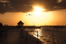 Sonnenuntergänge auf der Isla Holbox in Mexiko