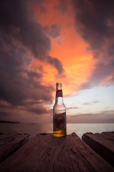 Mjam, Sol bei Sonnenuntergang auf der Isla Holbox