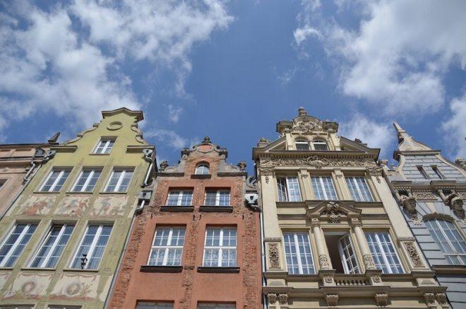 In der Altstadt Danzigs finden sich viele bunte Häuser