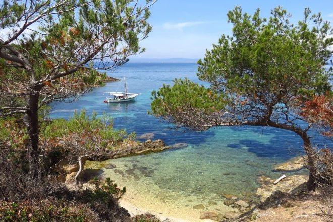 Traumreisen am Mittelmeer Insel Porquerolles vor der französischen Küste