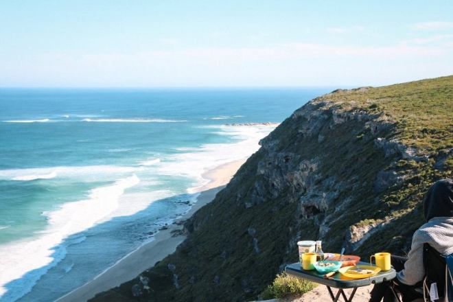 Westaustralien Route: Frühstücken an der Conto´s Bay