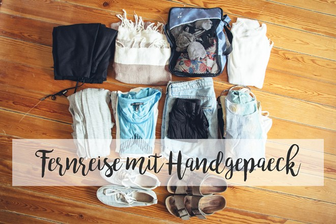 Weltreise Packliste für Frauen - für Handgepäck und Fernreisen