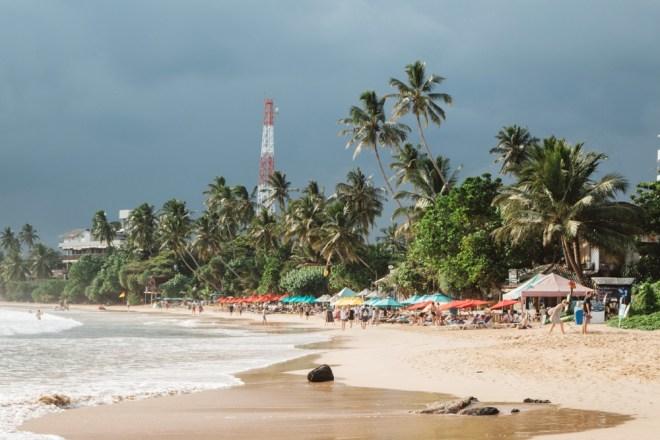 Sri Lanka Backpacking im Süden am Strandort Mirissa