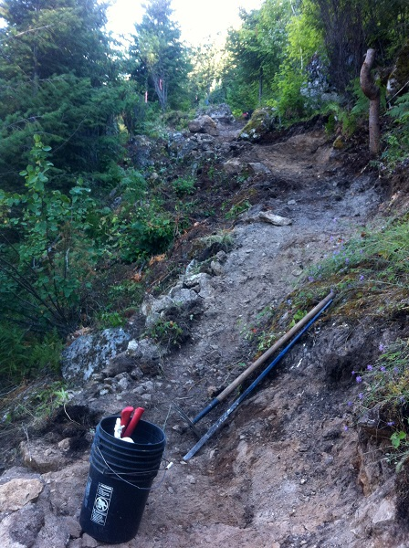 Construction begins on the new Fraser Hill Viewpoint Trail near Crawford Bay