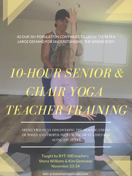 Senior & Chair Yoga Teacher Training