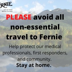 City of Fernie asks Weekenders to Stay Home