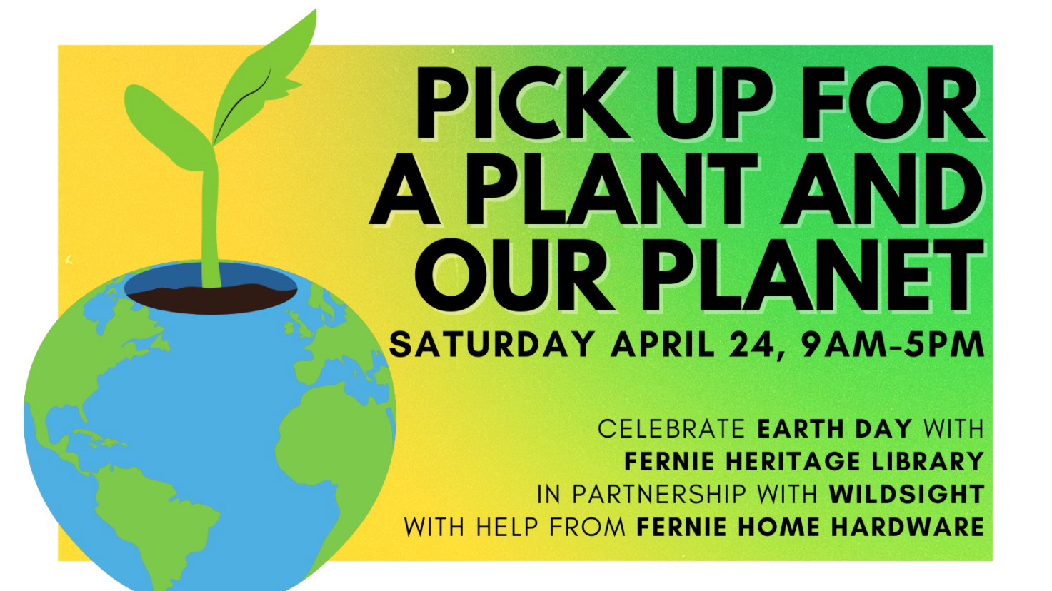 Earth Day Event: Pick Up For A Plant And Our Planet