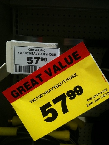 Canadian Tire Misleading Price Tags