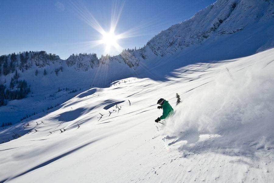 Fernie powder skiing