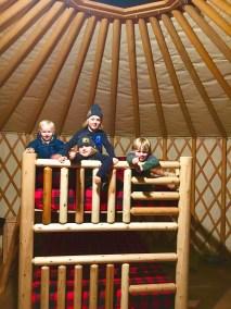 Fernie yurts kids bunkbed LR