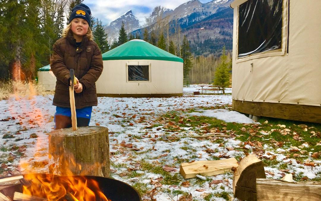 Winter Yurt Camping in Fernie