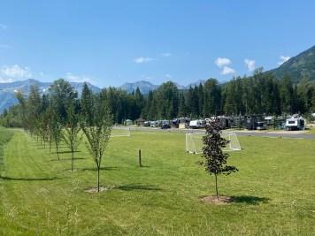 Fernie camping soccer field