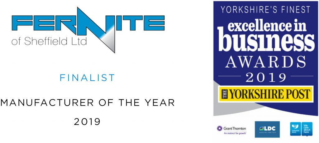 Fernite are finalists for Manufacturer of the Year at the Yorkshire Post Business Awards 2019