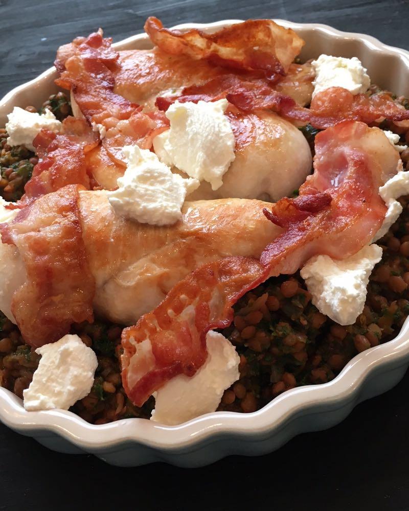 Life On Fernlane Winteressen Linsen Mit Hähnchen Bacon