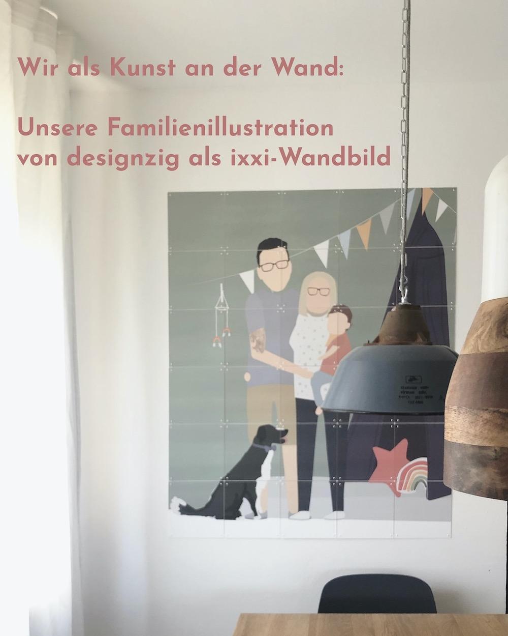 Familienillustration von designzig als ixxi-Druck