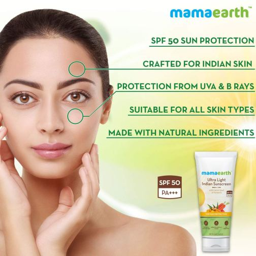 Mamaearth Sunscreen Lotion SPF 50 with Turmeric & Carrot Seed