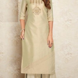 Viscos Silk with Cotton Inner Plazo And Suit