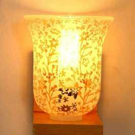 Copper 1 Wall Lamp with Fancy Lampshades Decor