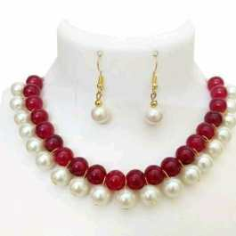 Artificial Beads Jewelry Set