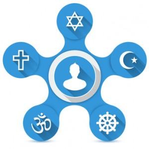 Religionsfreiheit - 5 Weltreligionen
