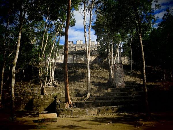 Calakmul Mexiko Maya Hochburg Struktur II Pyramide Urwald Dschungel