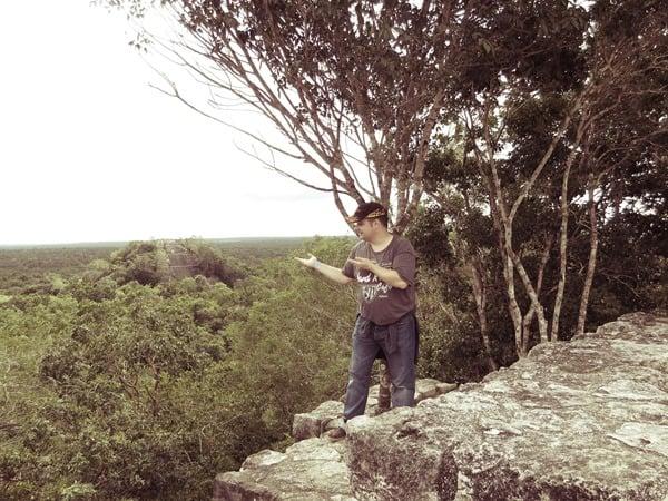 Calakmul Mexiko Maya Hochburg Struktur I Pyramide 1 Reiseblogger Daniel Dorfer