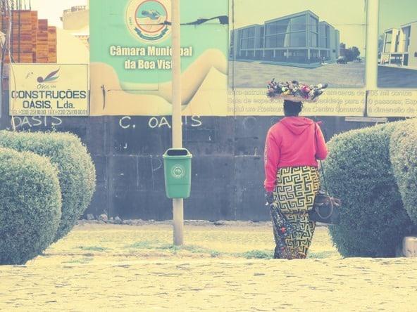 Sal Rei Strassenverkäuferin Boa Vista Kapverden