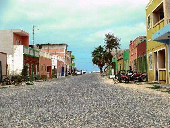 Sal Rei Strasse zum Hafen Boa Vista Kapverden