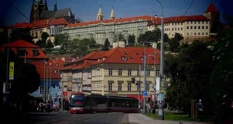 00 Citytrip Prag Prager Burg Moldau Tschechische Republik