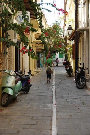 Gasse Rethymnon Altstadt Kreta Griechenland
