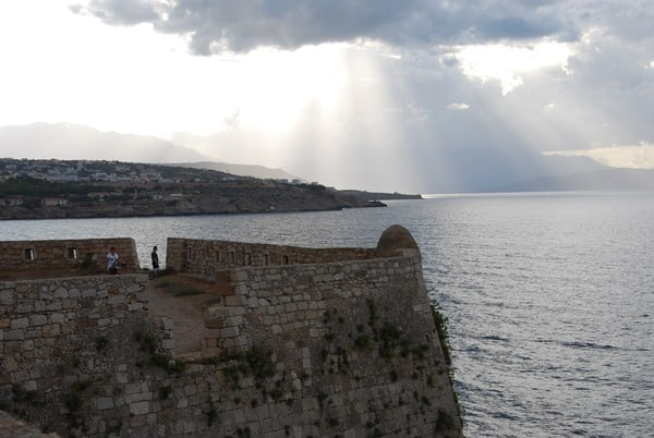Ausblick von der Fortezza von Rethymnon Kreta Griechenland