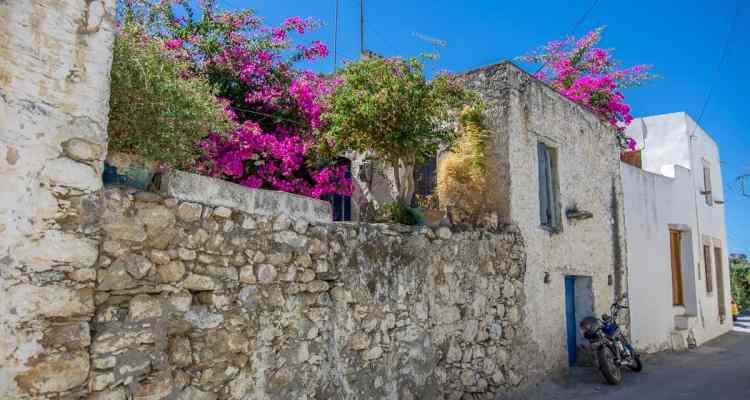 kreta sueden typische dorffassade griechenland crete greece