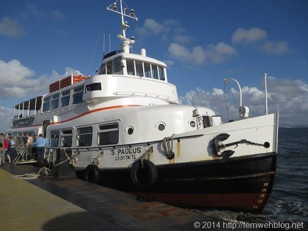 grosse Hafenrundfahrt Lissabon Portugal Boot