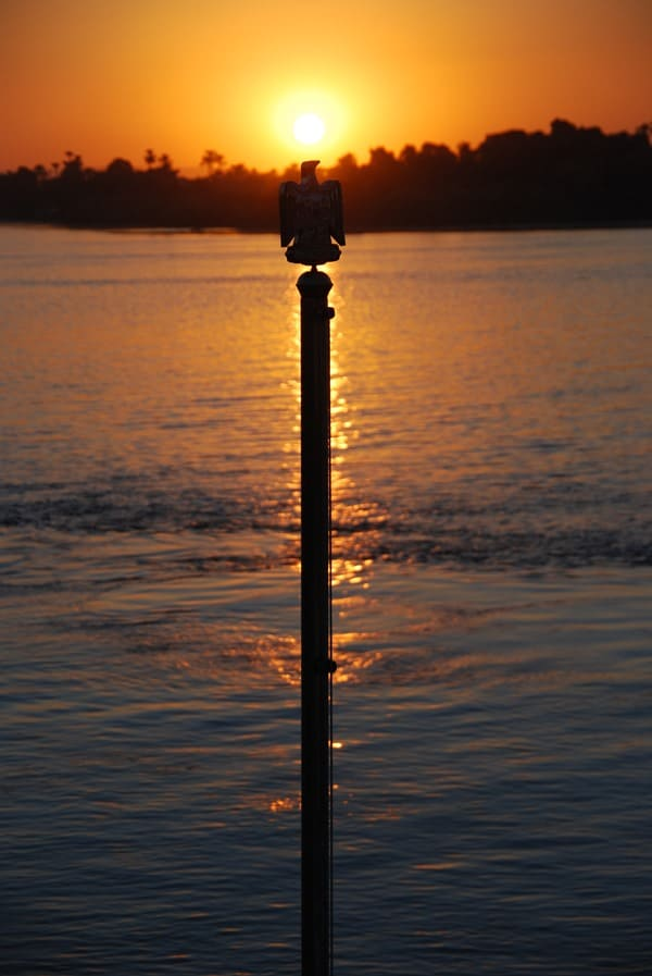 04_Sonnenuntergang-Nil-Nilkreuzfahrt-Aegypten