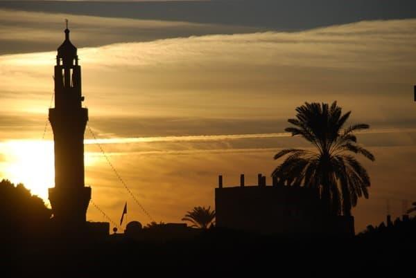 07_Sonnenuntergang-Nil-Moschee-Nilkreuzfahrt-Aegypten