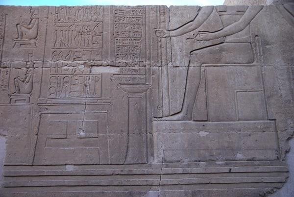 Doppeltempel von Kom Ombo Medizin Rezept Hieroglyphen Ägypten