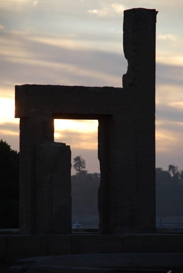 Doppeltempel von Kom Ombo Ruine Sonnenuntergang Ägypten