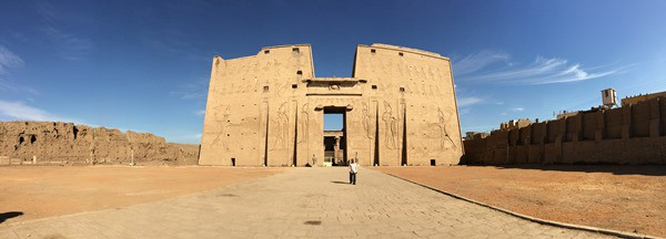 Horus Tempel von Edfu Panorama Pylon Ägypten Nil Nilkreuzfahrt