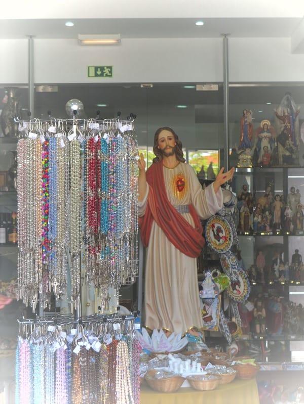 Wallfahrtsort Fatima Portugal Jesus Andenkenladen Souvenirshop