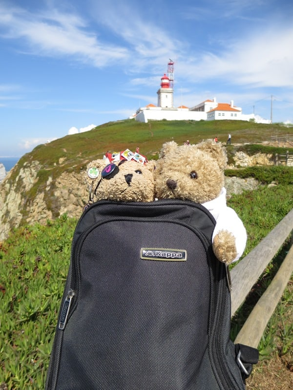 Cabo da Roca westlichster Punkt Europas Maskottchen Jack Bearow Tejo Portugal
