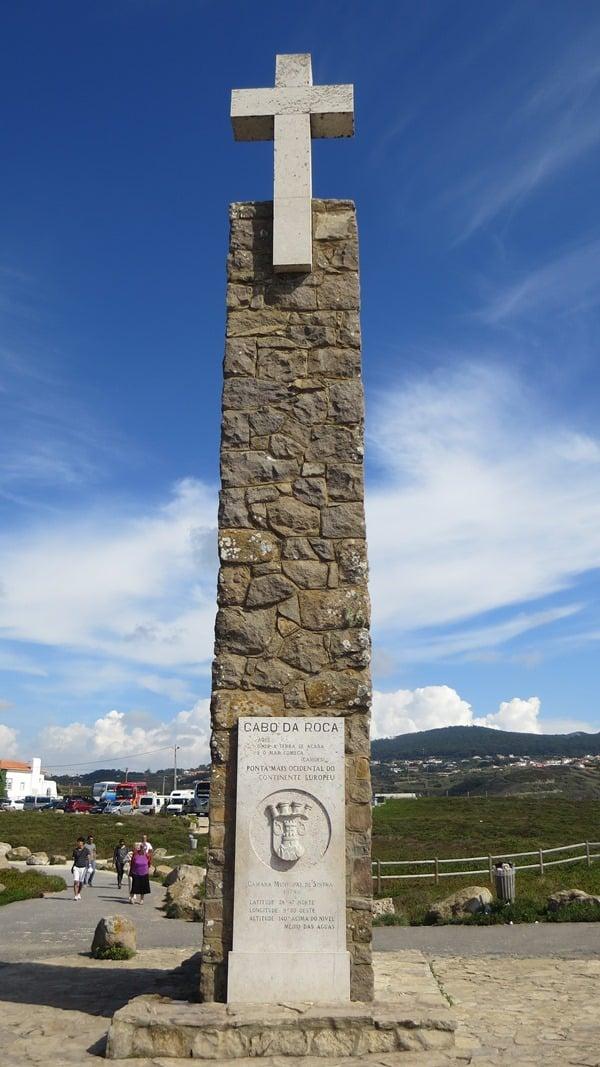 Cabo da Roca westlichster Punkt Europas Kreuz Portugal