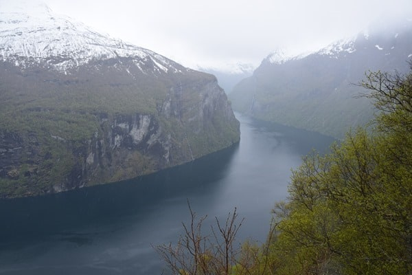 Aussicht Adlerstrasse Geirangerfjord Norwegen Nordland-Kreuzfahrt