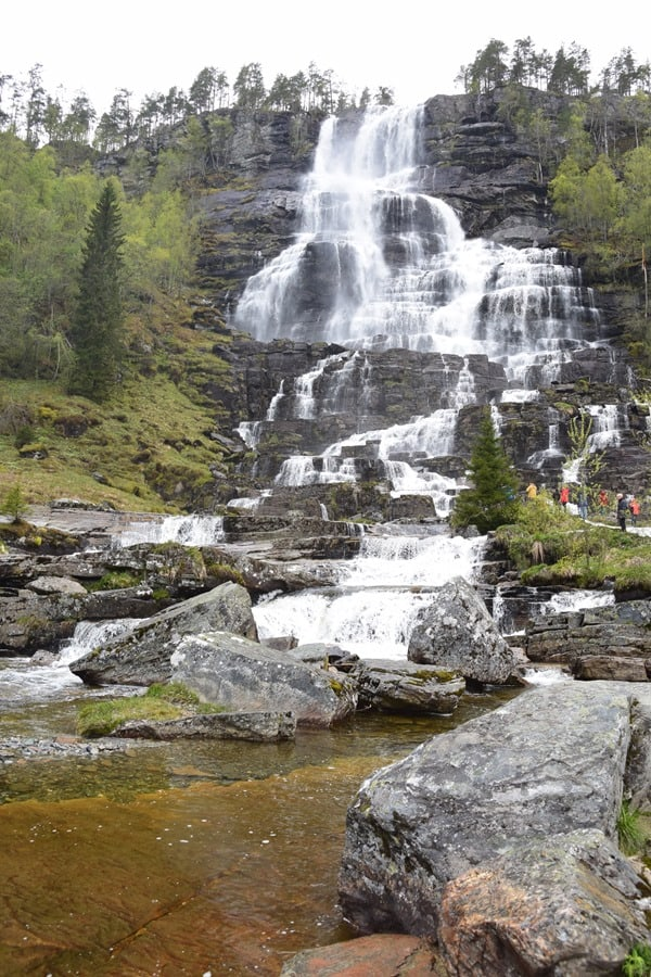 Tvindefossen Wasserfall Norwegen