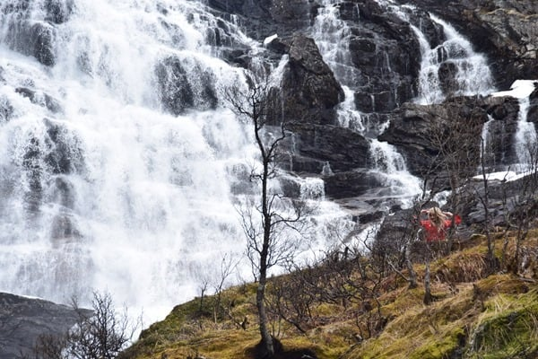 Flambahn Norwegen Wasserfee Huldrene Kjosfossen Wasserfall