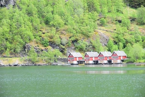 Flambahn Norwegen Hafen Flam Sognefjord