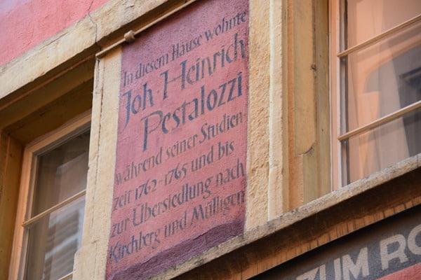 Zürich Sehenswürdigkeiten Schweiz Wohnhaus Johann Heinrich Pestalozzi