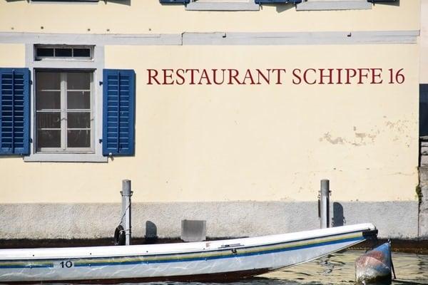 Zürich Sehenswürdigkeiten Schweiz Restaurant Schipfe 16 Limmat