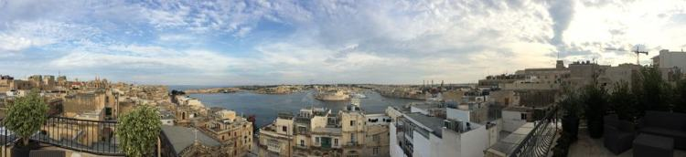 Malta Valletta Urlaub Sehenswürdigkeiten Tipps Panorama Dachterrasse Hotel Palazzo Prince D'Orange